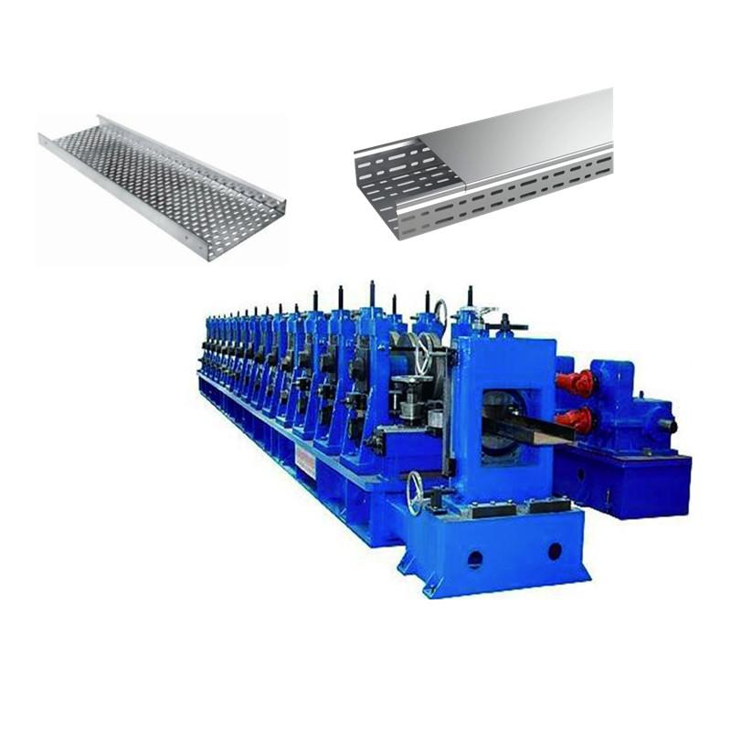 Cable Profile Roll Forming Machine With Punch Machine & Hydraulic Pre-Cutting Device