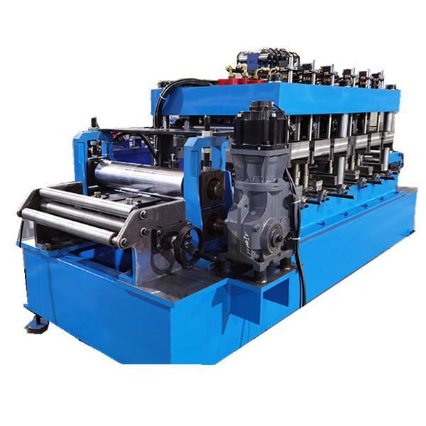 CZU Purlin Roll Forming Machine With Fly Cut Gearbox Drive